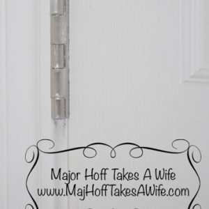 Remove paint from door hinges easily and simply. No chemicals needed!