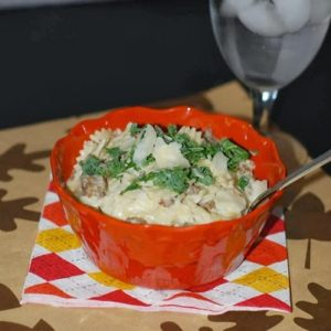 Garlic Bowtie Pasta With Italian Sausage Regular and Gluten Free recipes!