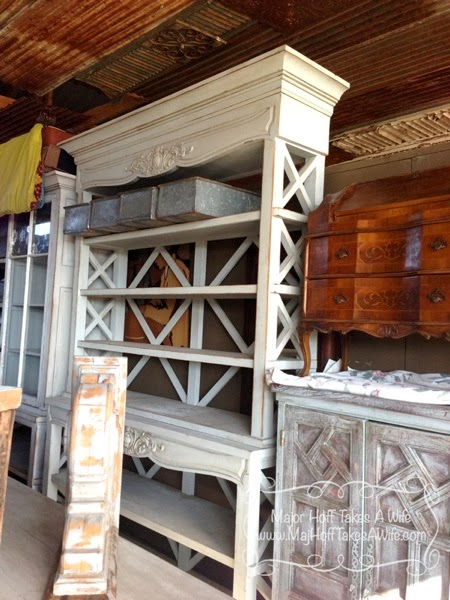 Gorgeous buffet with open slat hutch