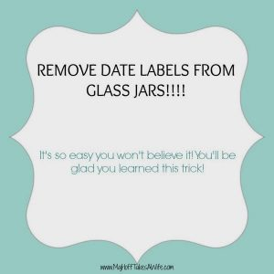 Easiest way to remove an ink label printed on a glass jar!