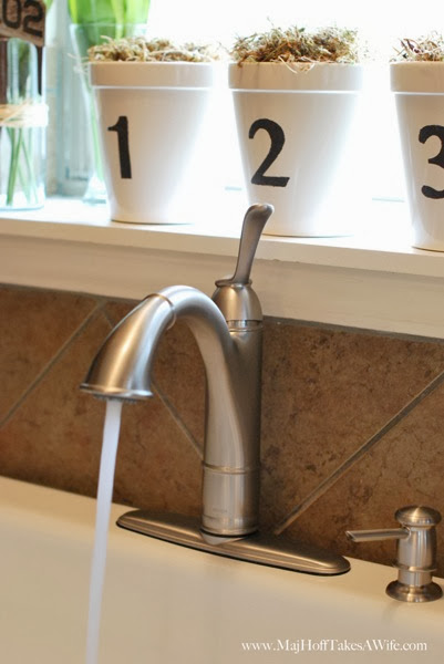 Walden Faucet In White Single Basin Walden Faucet With Spray Stream