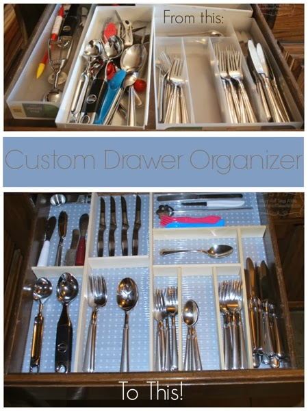 Custom drawer organizer before and after