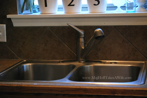 New Single Basin Sink Install Downsizing Double Sink Drains Down To