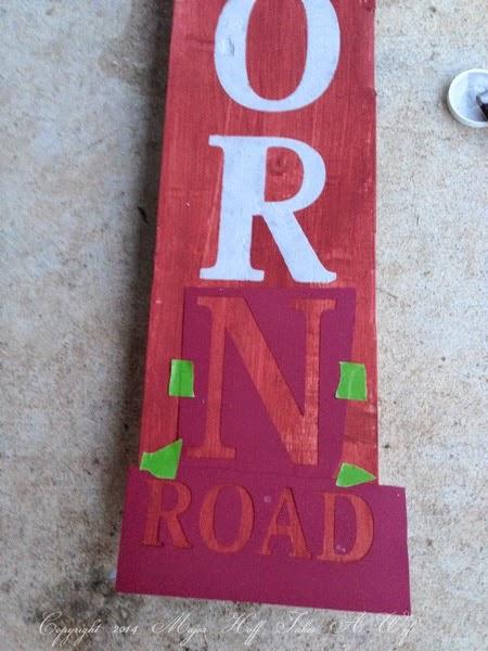 Using stencils cut by cricut to make a custom sign