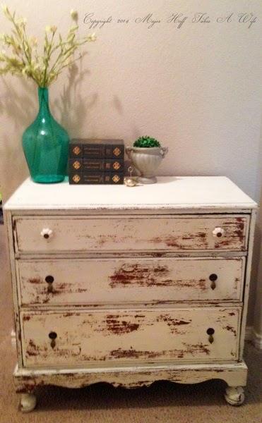 Linen Miss Mustard Seed Milk paint on dresser