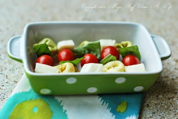 Easy tomato tortellin appetizer