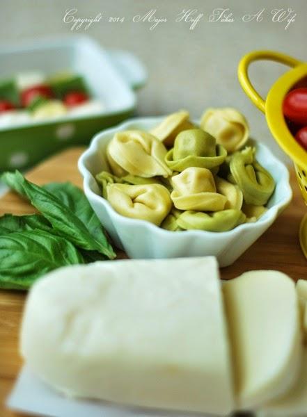 Fresh Bertolli tortellini with basil mozzarella and tomato