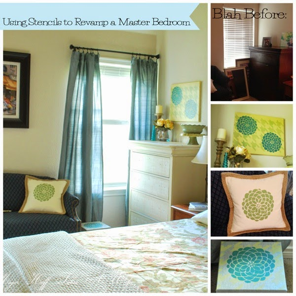 Use stencils to revamp a master bedroom