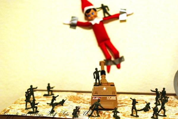 Army versus Elf on the Shelf