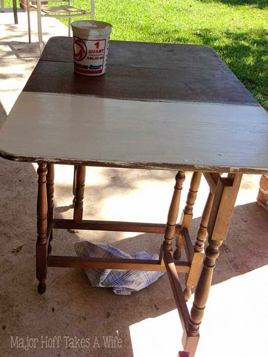 First chalk paint coat is always bumpy