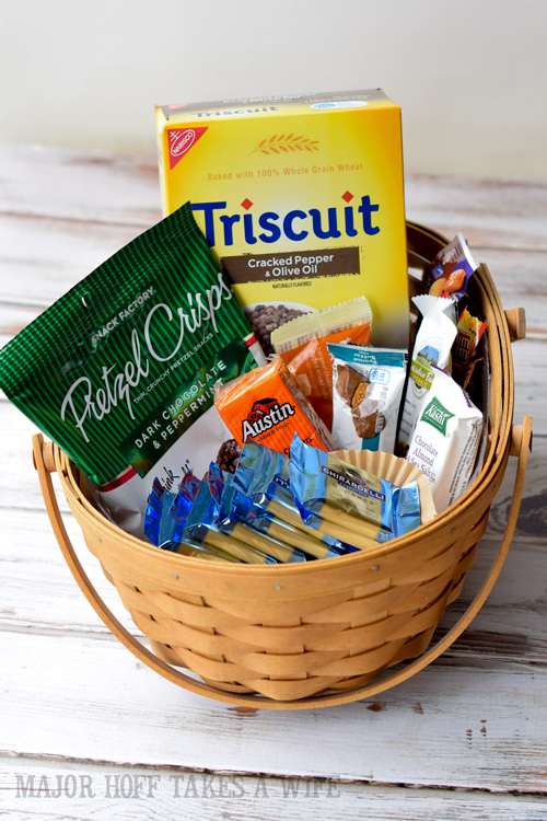 An easy to make snack basket for your overnight guests
