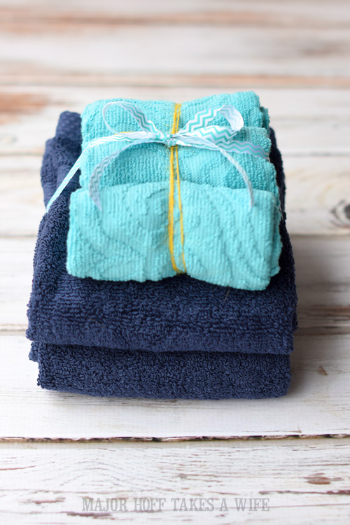 Clean towels tied up with a bow make a nice welcoming gesture for your overnight guests