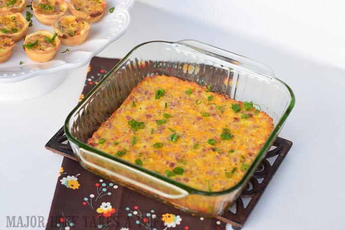 Crustless Quiche that is naturally gluten free Recipe for Ham cheese crustless quiche