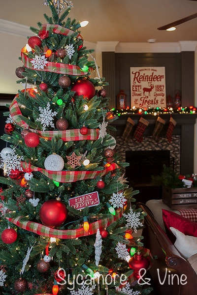 gorgeous plaid country christmas tree great idea for tree decorations - Country Christmas Tree Decorations