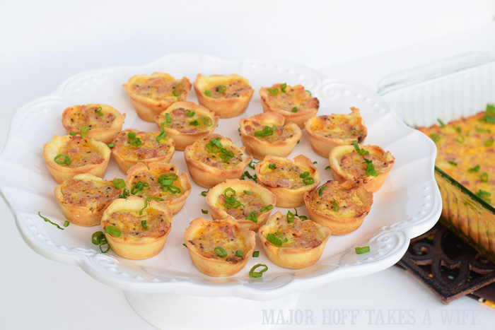mini quiches made with ham and cheese and gluten free dough