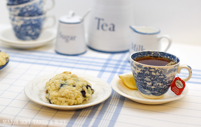 Eat a blueberry scone for breakfast or serve as a blueberry dessert