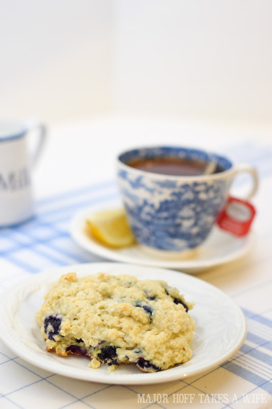 Have a blueberry scone with your cup of tea during High Tea