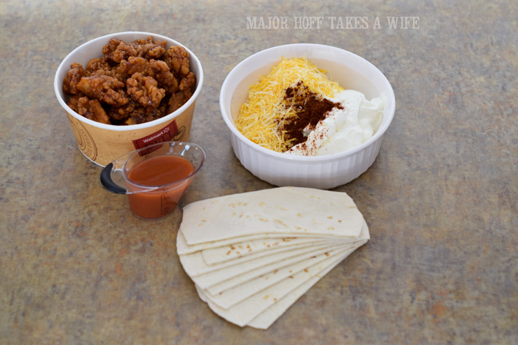 Use prepared wings to make easy hot wing enchiladas