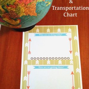 Free Printable Daily Activity & Transportation Guide