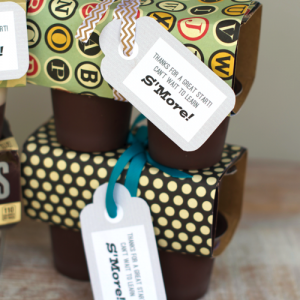 DIY Pudding Cup Holders For Gift Giving With Free Printables
