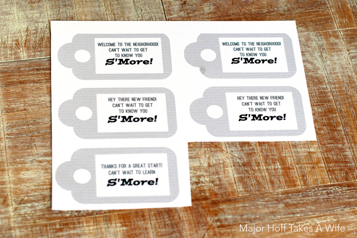 free printable tag for new friend new neighbor or new teacher smore - Free Fun Printables