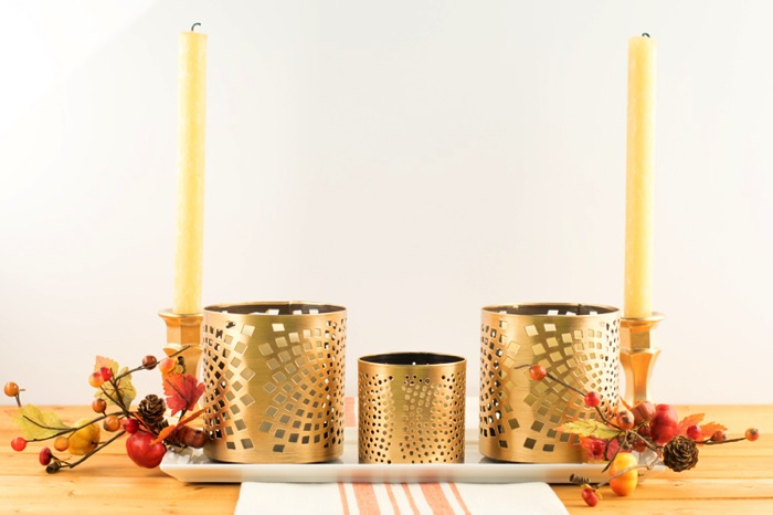 Gilded Centerpiece for a Fall table