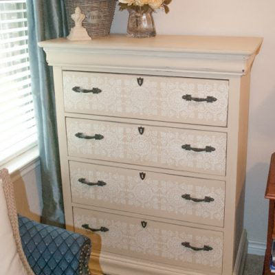 How To Stencil A Dresser With Chalk Paint