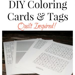 Quilt Inspired Coloring Cards