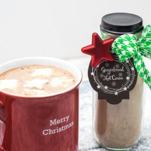 Gingerbread Hot Cocoa Mix with Gift Giving Tags!