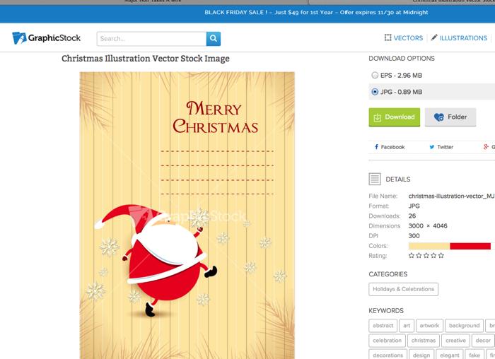 Secret Santa gift tags on Graphic Stock