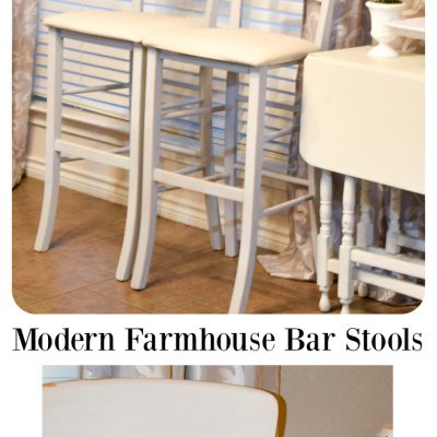 Modern Farmhouse Bar Stools DIY'ed with Pure & Original Classico Paint