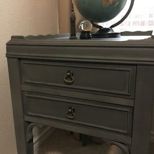 Side Table makeover with Country Chic Metallic Cream