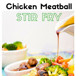 Sweet and Sour Chicken Meatball Stir fry