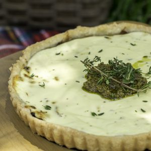 Savory Caramelised Onion Tart With Goats Cheese