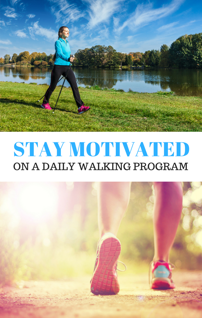 Stay motivated on a daily walking program