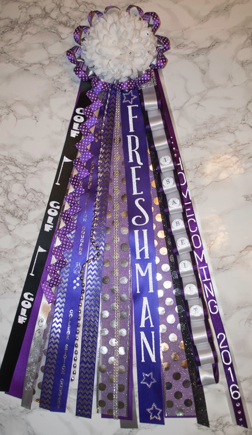 Customized Ribbons For Texas Homecoming Mums Just A Few Supplies To Make These Fun