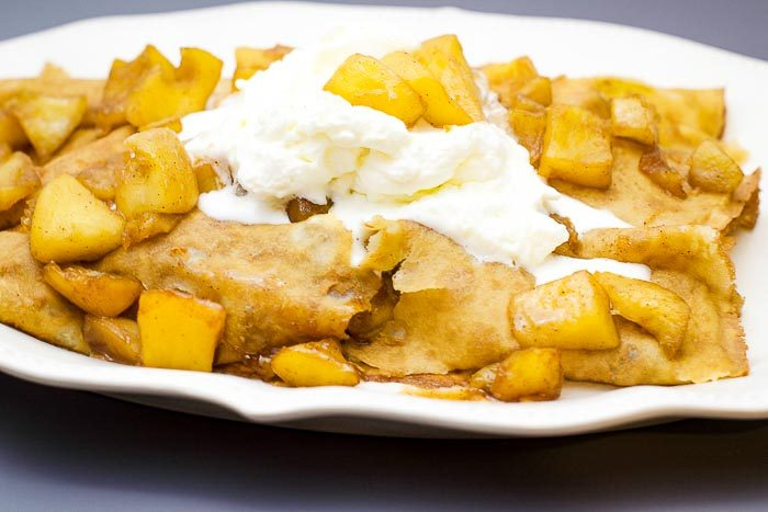 Carmalized Apple Crepes