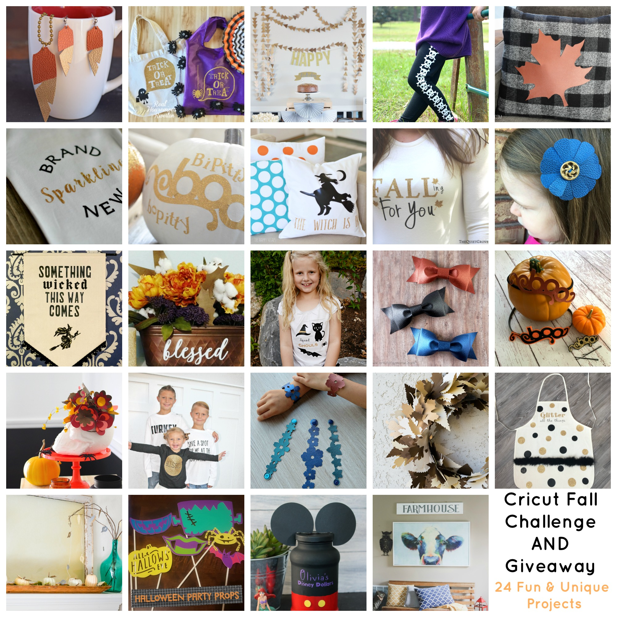 Cricut Challenge and Giveaway Fall 2016