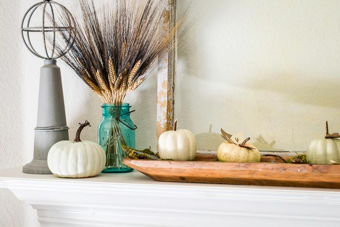 Dollar store pumpkins for fall decorating