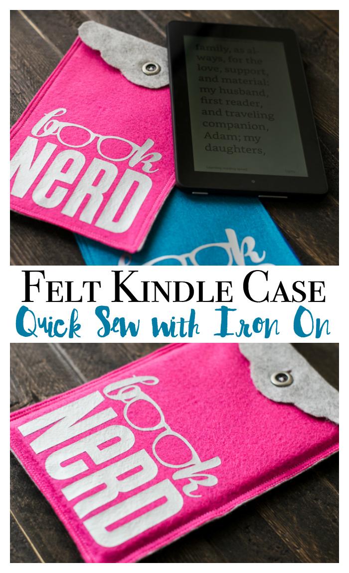Felt Kindle Case DIY sewing pattern