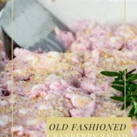 Old Fashioned Cranberry Salad Ice Box Cake