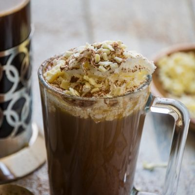 Dark Chocolate White Chocolate Mocha Lattes With 5 Tips For Thrifting!