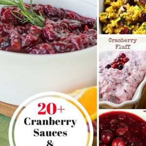 20 Plus Cranberry Side Dishes and Salads