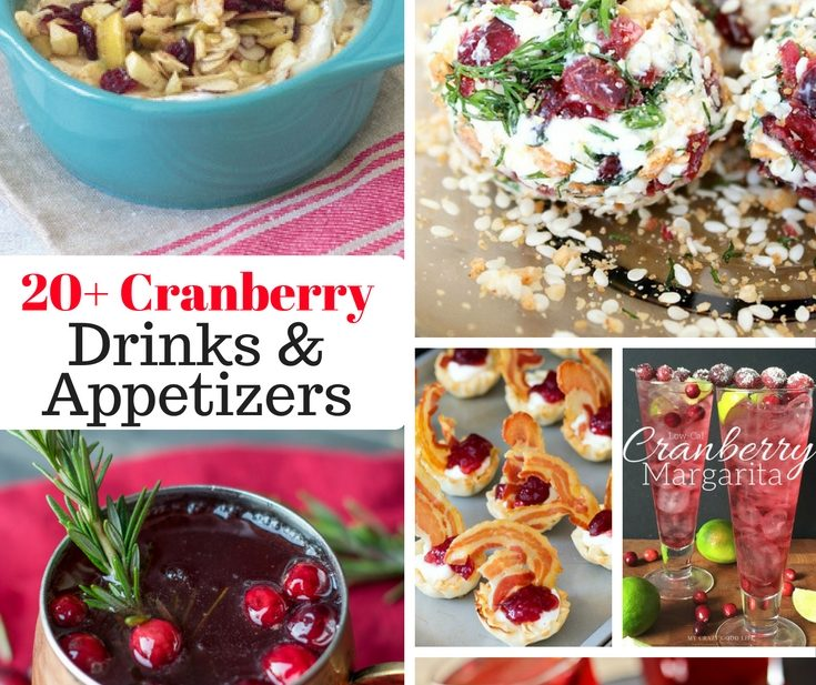20+ cranberry drinks and appetizers