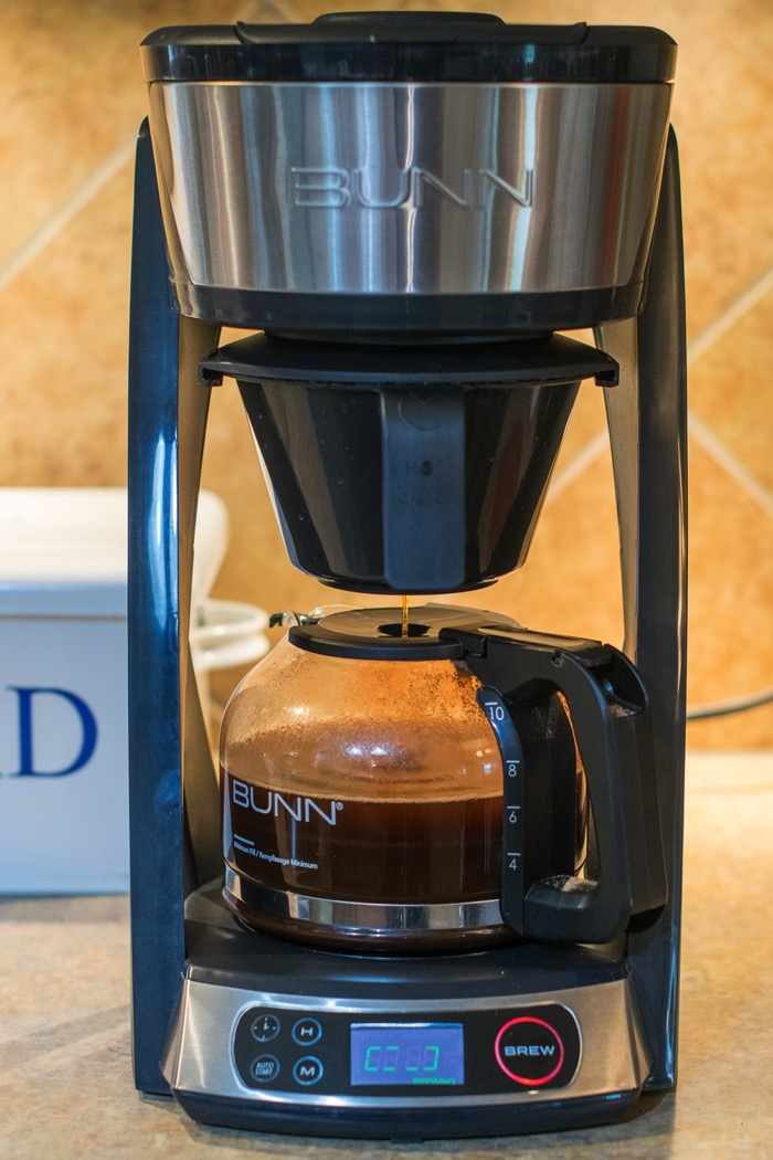 Brewing in a BUNN HB Coffee Maker