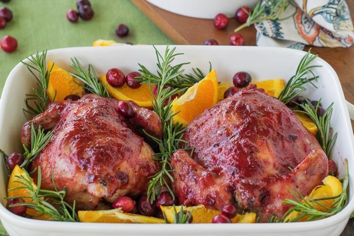 Cranberry Orange Glazed Cornish Game Hen Recipe