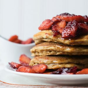 Cranberry Apple Ginger Pancakes