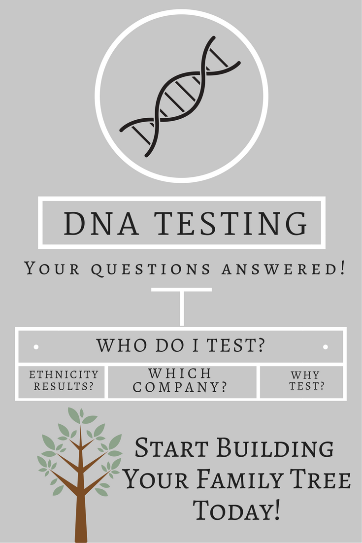 5 Tips for DNA Testing! Have DNA Testing Questions? Want to learn more about it? Which company to use? Learn about adding DNA testing to genealogy searches.