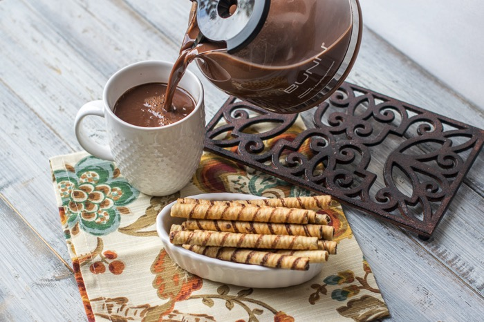 how to Make a mocha in a coffeepot