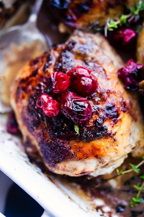 Roasted cranberry balsamic chicken paleo